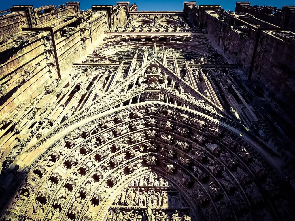 Фасад Страсбургского собора